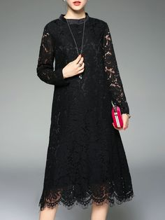 Buy it now. Black Mesh Lace Shift Dress. Black Round Neck Long Sleeve Lace A Line Knee Length Plain Fabric has no stretch Fall Casual Day Dresses. , vestidoinformal, casual, camiseta, playeros, informales, túnica, estilocamiseta, camisola, vestidodealgodón, vestidosdealgodón, verano, informal, playa, playero, capa, capas, vestidobabydoll, camisole, túnica, shift, pleat, pleated, drape, t-shape, daisy, foldedshoulder, summer, loosefit, tunictop, swing, day, offtheshoulder, smock, print, pr...