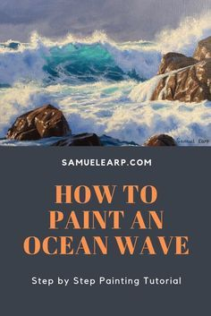 How to Paint an Ocean Wave - Painting Tutorial Oil Painting For Beginners, Oil Painting Techniques, Acrylic Painting Lessons, Oil Painting Tutorials, Painting Videos, Drawing Tutorials, Makeup Tutorials, Drawing Tips, Art Tutorials