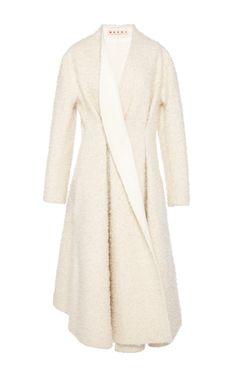 Bonded Plush Alpaca Wool Dress Coat by Marni - Moda Operandi