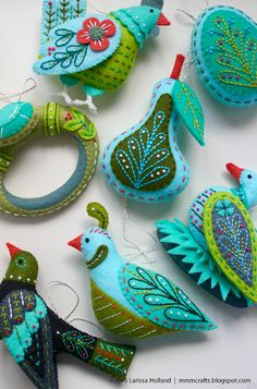 mmmcrafts: finished ornaments and a new Twelve Days resource page on the blog