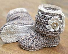 Häkeln Muster Baby Booties Schuhe unisex jungen oder von ketzl