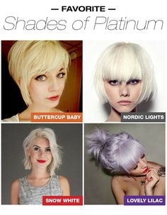 Ice, Ice Baby! Check out our favorite shades of platinum blonde hair color (formulas included)! #platinumhaircolor