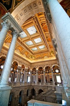 Washington DC, The Jefferson Building | The Library of Congress was instituted for Congress in 1800.