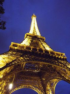 Eifel tower at night, gorgeous structure