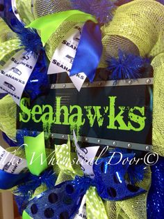 Seattle Seahawks NFL Decomesh Green Blue by TheWhimsicalDoor, $55.00