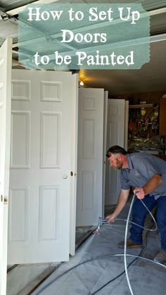 Tutorial for how to set up doors to be painted. This way makes painting a breeze!