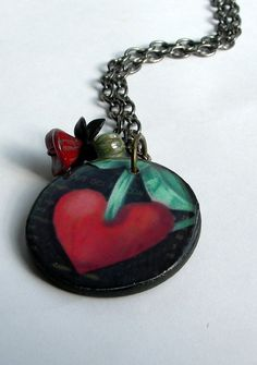 Heart NecklaceHeart JewelryRed Heart Necklace by ATouchofRomance