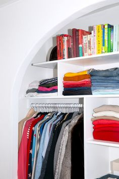 "She had tried many closet organizing systems in previous homes, but in this place, she wanted to attemptsomething different—something custom. ""I just knew I would be in this place for a long, long time,"" she remembers."