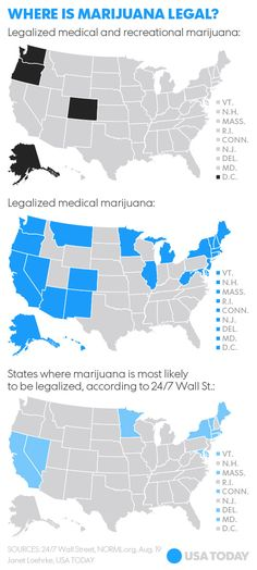 According to USA Today, West Virginia has medical marijuana, and Arizona and Ohio won't legalize, but Minnesota and New York will.
