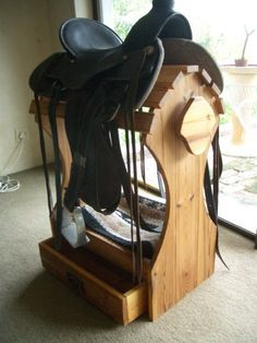 Saddle stand made by my friend. How cool is that?