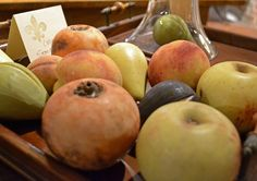 Stone fruit collection from last fall's Market. Fruit Love, Stone Fruit, Needful Things, High Point, Fruits And Vegetables, Colonial, Primitive, Marble, Carving