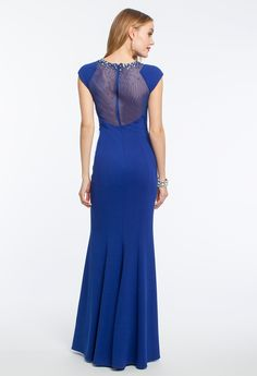 Illusion Neck with Pearls Dress #camillelavie