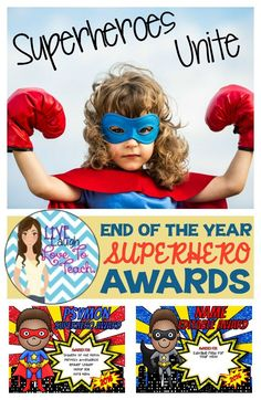 These FUN and COOL Superhero awards will be just what gets your kids excited for their awards banquet at the end of the year! Show off your students achievements with these awards that they will treasure.