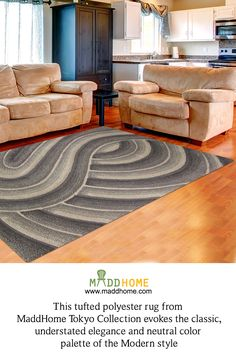 A new definition for your floors!   #MaddHome #HomeDecor #Carpets  Shop Here:- https://www.maddhome.com/rugs-carpets-online/derince-polyester-tufted-carpet.html