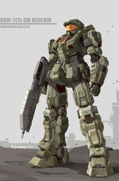 Mobile Suit Gundam and Halo combined Gundam Wing, Gundam Art, Halo Armor, Halo Spartan Armor, Halo Master Chief, Master Chief Armor, Halo Cosplay, Robot Animal, Mecha Suit