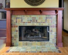 Craftsman Tile, Craftsman Decor, Craftsman Fireplace, Craftsman Interior, Craftsman House Plans, Craftsman Bathroom, Farmhouse Fireplace, Fireplace Tile Surround, Fireplace Surrounds