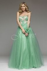 Prom Dress: Jadore J4 Collection - J4050 - Tulle Skirt, Polyester bodice w/ beaded appliqué
