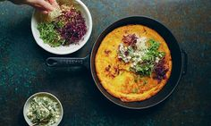 Carrot and chickpea pancake with lemon-spiked dressing & 7 other delicious vegetarian recipes from Anna Jones' latest cookbook