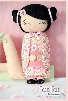 Eu Amo Artesanato: Boneca japonesa