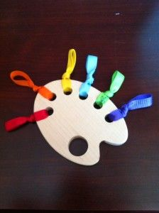"Eco-friendly teething ""Pallette"" - so pretty & clever!  http://startanewleaf.com/?p=651"