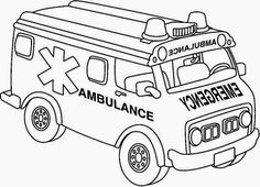 ambulance coloring pages and building coloring pages - Ambulance Coloring Pages Kids