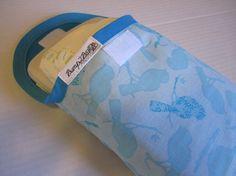 Diaper and Wipe caseclutchpouchAqua birdslots of by bump2baby, $14.99