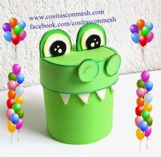 Manualidades dulcero cocodrilo reciclaje | Aprender manualidades es facilisimo.com