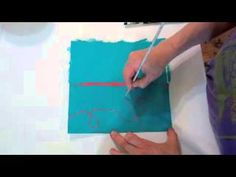 Open Acylics for Drawing / Subtractive demo w/ opaque, translucent, and fluid acrylics / Jane Davies