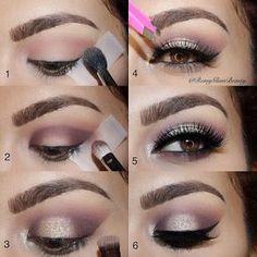 Maquillaje con cinta adhesiva y sombras luminosas ~ Manoslindas.com