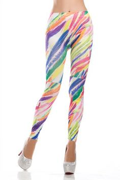 Amour- Women Lace Sheer Mesh Inset Stripes Ankle Length Footless Legging (Rainbow Print) Amour,http://www.amazon.com/dp/B00FDM25B2/ref=cm_sw_r_pi_dp_3.Ostb09HPN9X31D