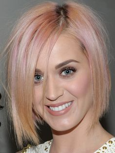 pink hair, but I think Katy perry might be the only one who could pull this off