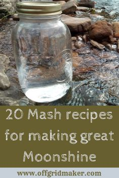 Get this free downloadable PDF with 20 different mash recipes to make some great moonshine. Includes greats like honey shine, watermelon shine, bourbon, banan brandy and many more.