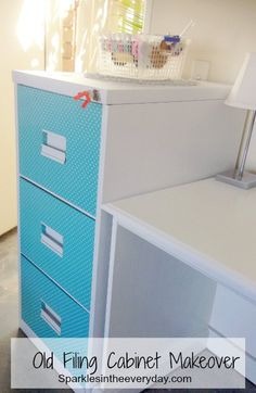 Old Filing Cabinet Makeover t