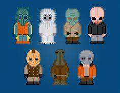 Personajes de Star Wars Cantina Película Cruz por AmazingCrossStitch