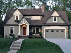 Top 50 Best Exterior House Paint Ideas - Color Designs Grey House Paint, House Exterior Color Schemes, Exterior Paint Colors For House, Paint Colors For Home, Paint Colours, Exterior Colors, Stucco Colors, Siding Colors, Exterior Gris