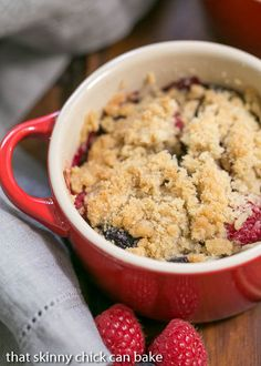 Individual Berry Crisps | A marvelous summer berry treat!