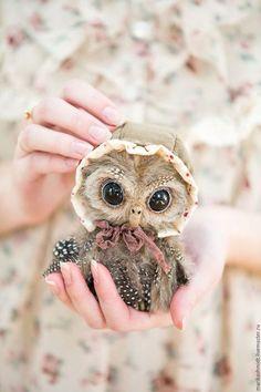 Teddy toy owl / Мишки Тедди ручной работы. Ярмарка Мастеров - ручная работа. Купить Совенок Тедди Вилли. Handmade. Серый, филин, подарок