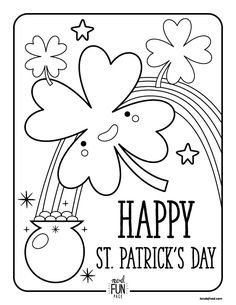 St. Patrick's Day Printable Coloring Page via Honesttonod.com