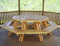 seanmichaelragan: Octagonal Picnic Table
