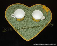 La Bottega delle meraviglie di Gabry: tovaglietta cuore ....schema