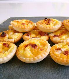 Mini quiches apéritives cantal chorizo