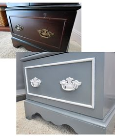 before & after this is just like my dresser.