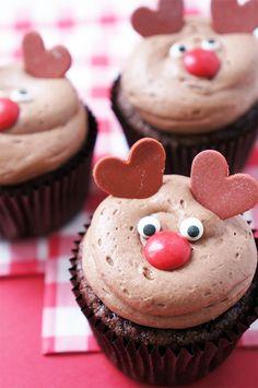 rendier cupcakes | reindeer cupcakes
