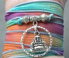 Boho SILK WRAP BRACELET Yoga  Karma Jewelry Circle of by BeMyCharm, $27.95