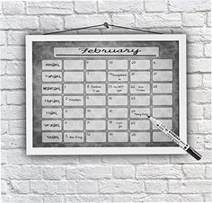 Return Gift Ideas Monthly Calendar Family Command Centre Schedule Wall Planner Dry Wipe