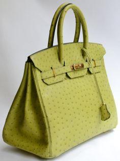 HERMES BIRKIN 35 bag BLEU IRIS Ostrich Palladium | From a ...
