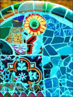 Gaudi mosaic in Barcelona