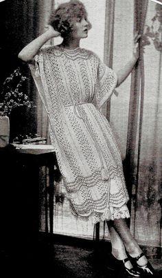 1922 kimono art deco knitting pattern pdf instant download