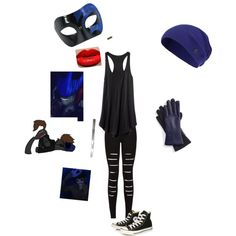 Eyeless Jack Themed by rainbow-war on Polyvore featuring Converse, Fownes Brothers, Sweaty Betty and Masquerade