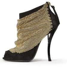 roger vivier chain maille draped bootie